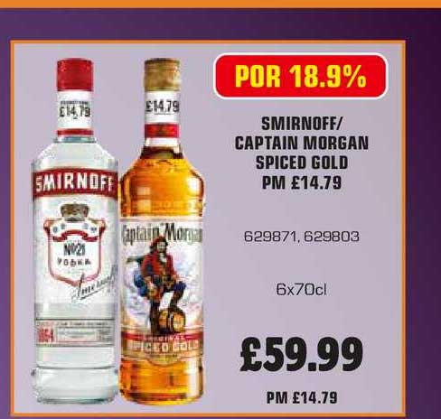 Bestway Captain Morgan Spiced Gold