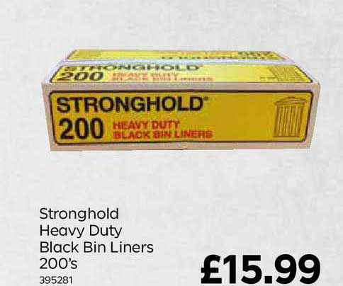 Bestway Stronghold Heavy Duty Black Bin Liners 200's