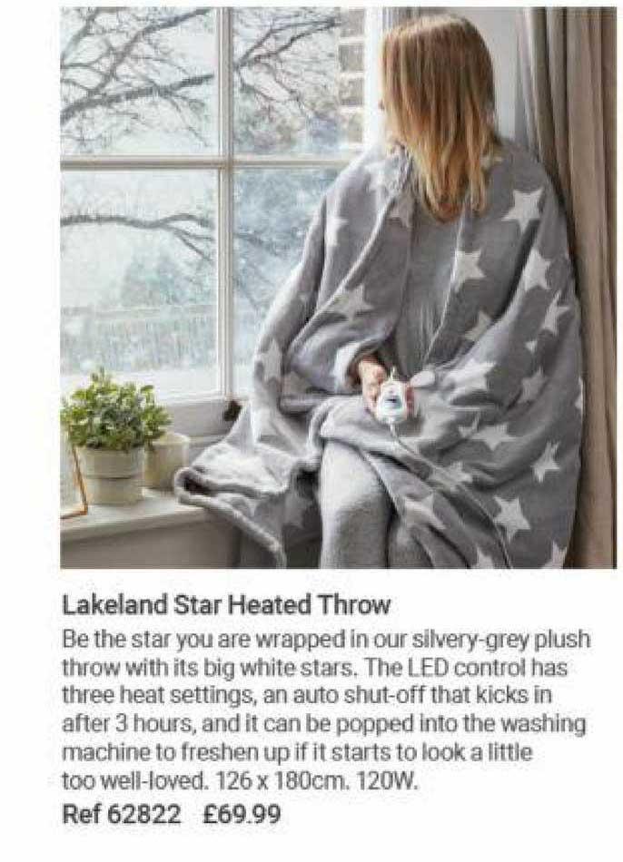 Lakeland Lakeland Star Heated Throw