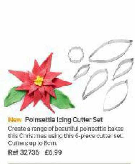 Lakeland Poinsettia Icing Cutter Set