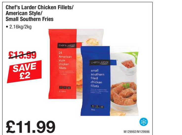 Makro Chef's Larder Chicken Fillets-American Style-Small Southern Fries