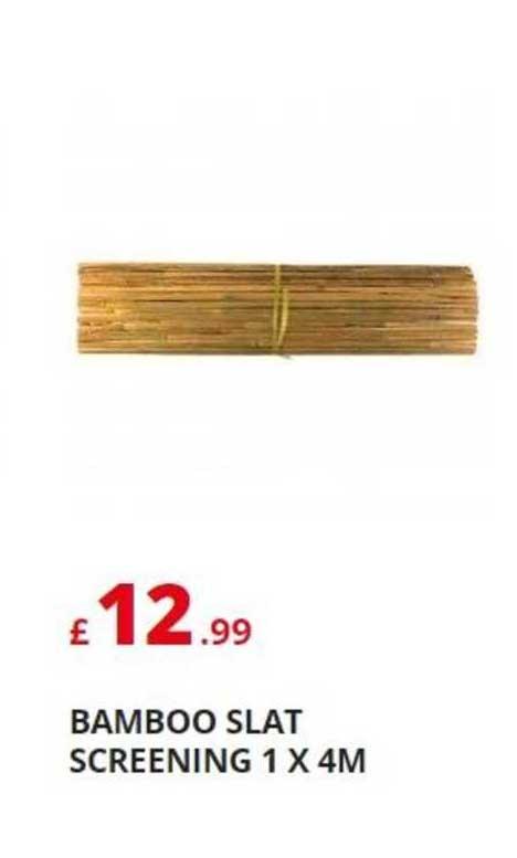 Poundstretcher Bamboo Slat Screening 1X 4M