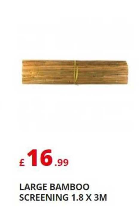 Poundstretcher Large Bamboo Screening 1.8 X 3M