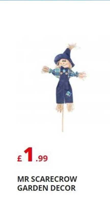 Poundstretcher Mr Scarecrow Garden Decor