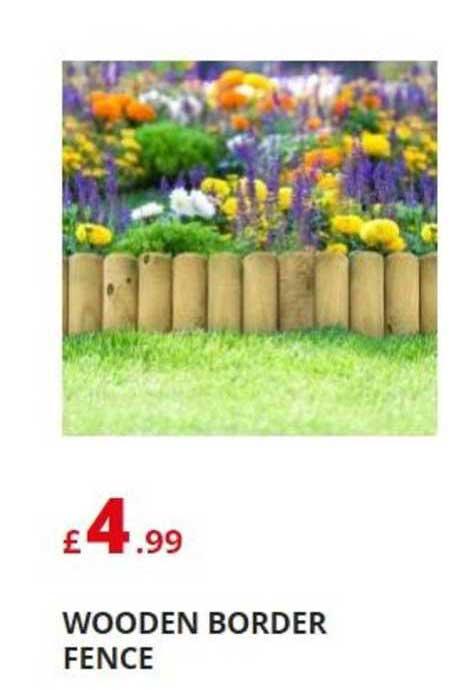 Poundstretcher Wooden Border Fence