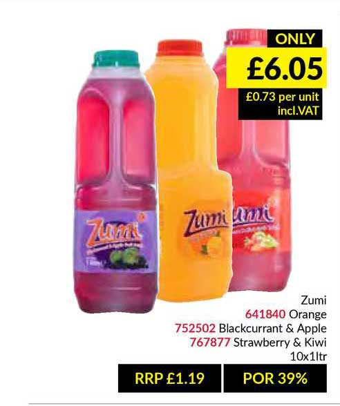 Musgrave MarketPlace Zumi Orange Blackcurrant & Apple Strawberry & Kiwi