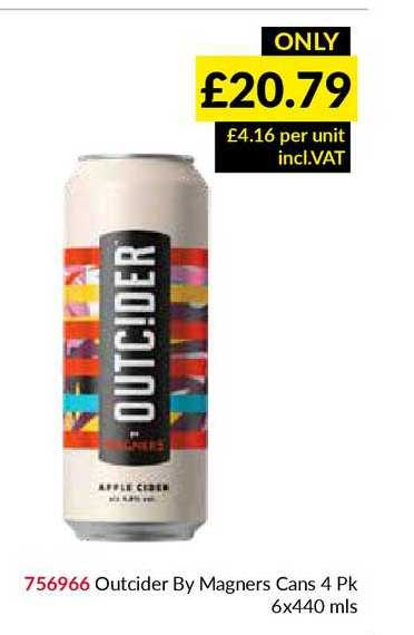 Musgrave MarketPlace Outcider By Magners Cans 4 Pk