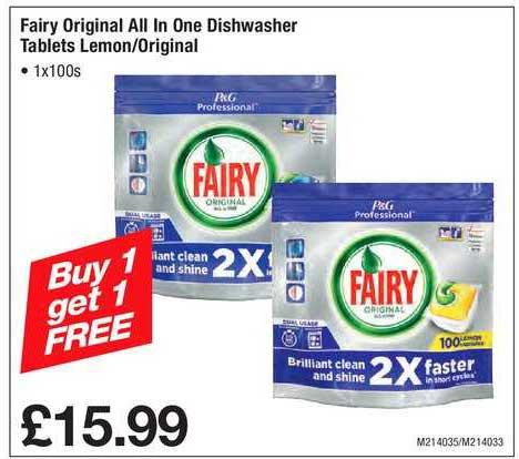 Makro Fairy Original All In One Dishwasher Tablets Lemon-Original