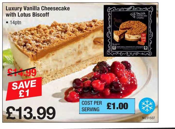 Makro Luxury Vanilla Cheesecake With Lotus Biscoff