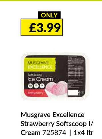 Musgrave MarketPlace Musgrave Excellence Strawberry Softscoop Ice Cream