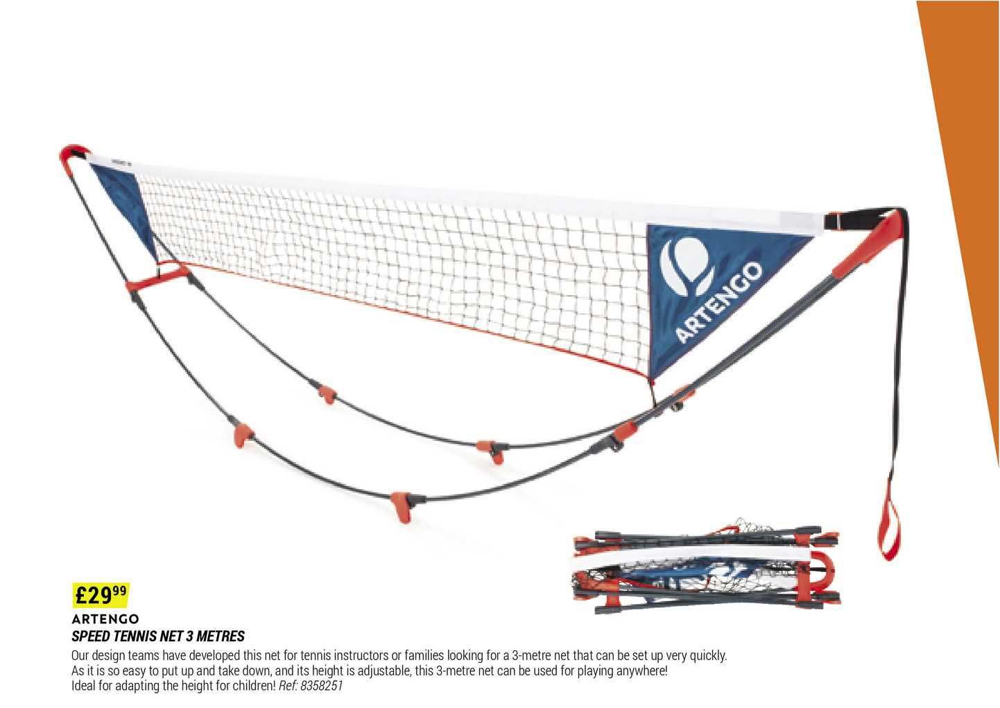 Decathlon Artengo Speed Tennis Net 3 Metres