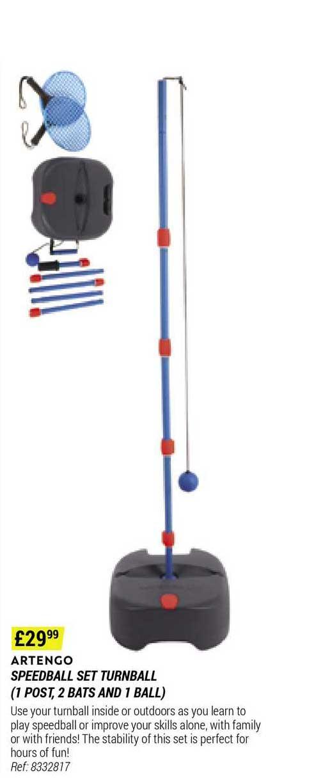 Decathlon Artengo Speedball Set Turnball (1 Post, 2 Bats And 1 Ball)