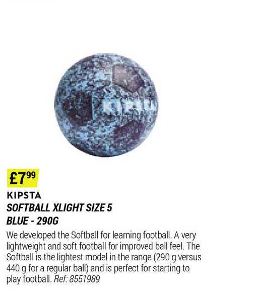 Decathlon Kipsta Softball Xlight Size 5 Blue - 290g