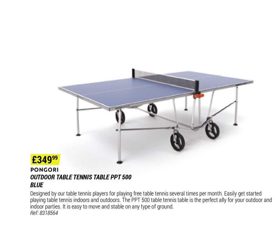 Decathlon Pongori Outdoor Table Tennis Table Ppt 500 Blue