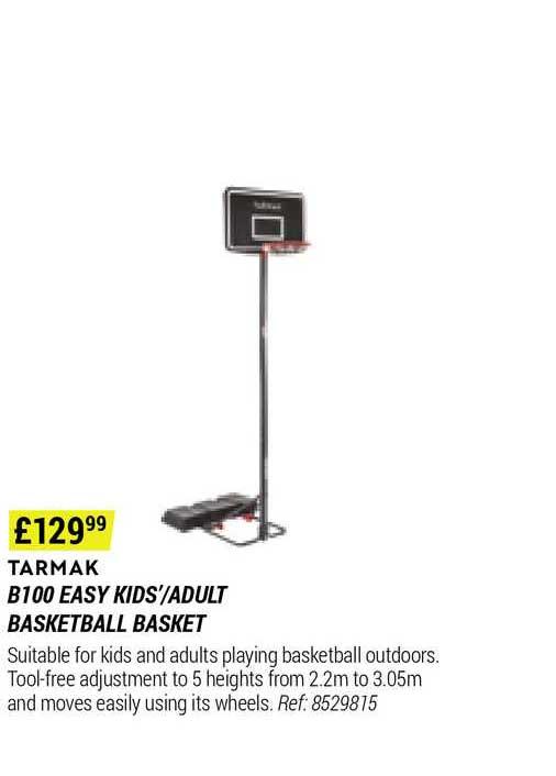 Decathlon Tarmak B100 Easy Kids'-adult Basketball Basket