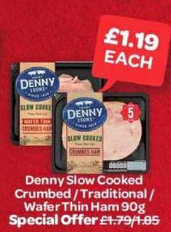 Spar Denny Slow Cooked Crumbled - Traditional - Wafer Thin Ham