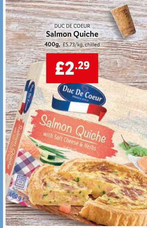 Lidl Duc De Coeur Salmon Quiche
