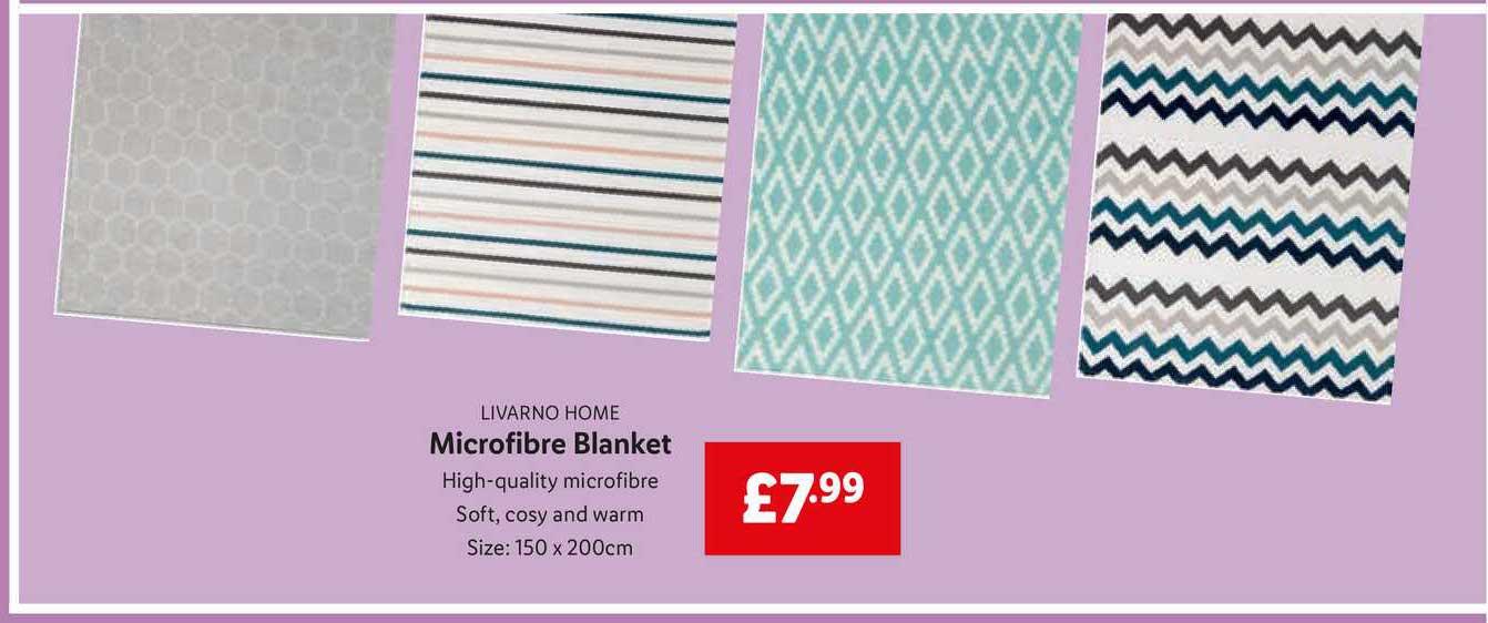 Lidl Livarno Home Microfibre Blanket