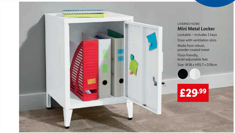 Lidl Livarno Home Mini Metal Locker