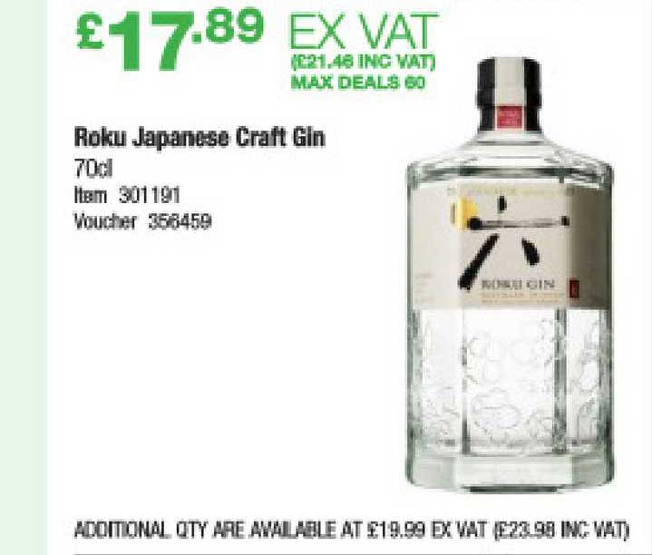 Costco Roku Japanese Craft Gin