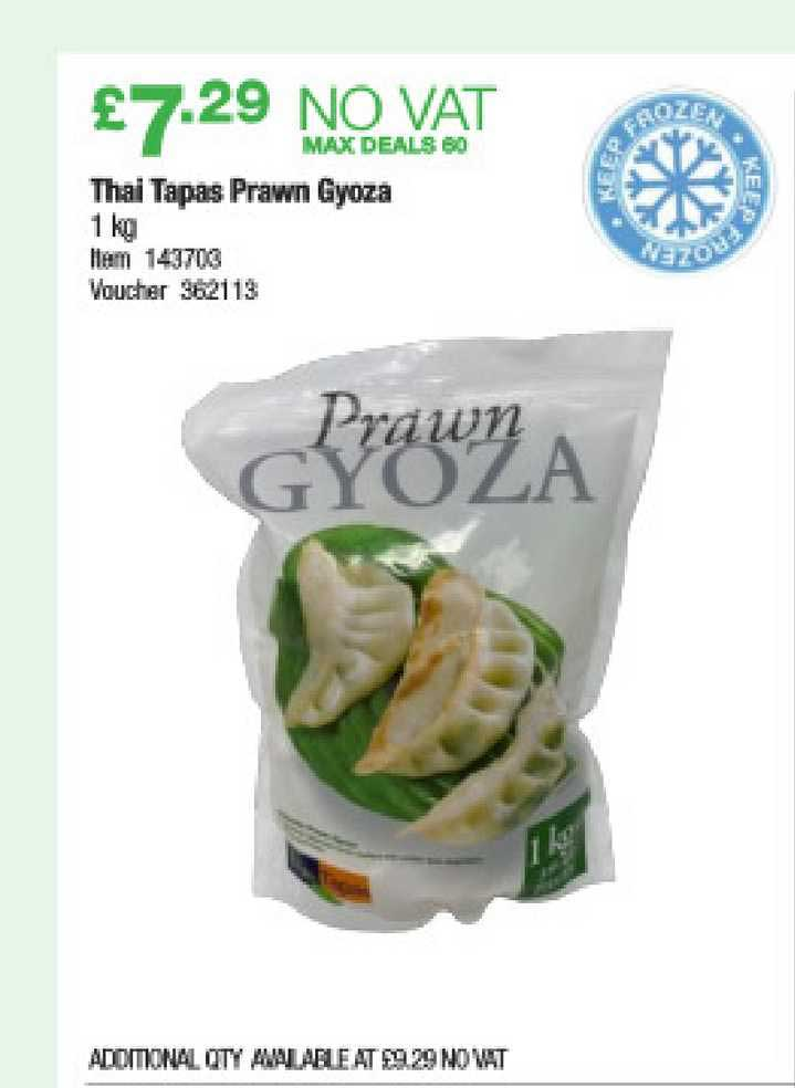 Costco Thai Tapas Prawn Gyoza