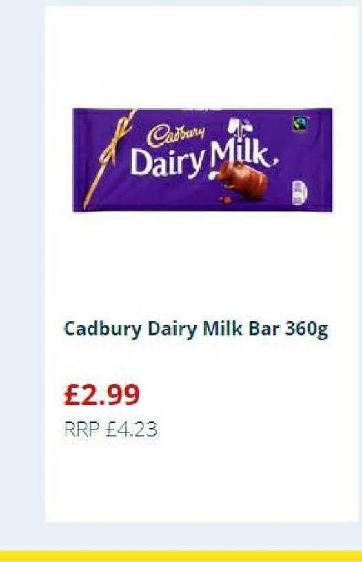 Home Bargains Cadbury Dairy Milk Bar 360g