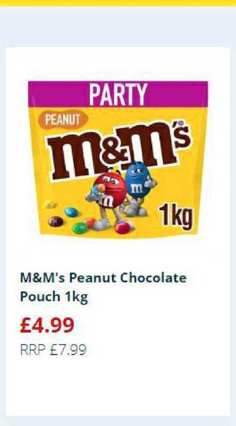 Home Bargains M&M's Peanut Chocolate Pouch 1Kg