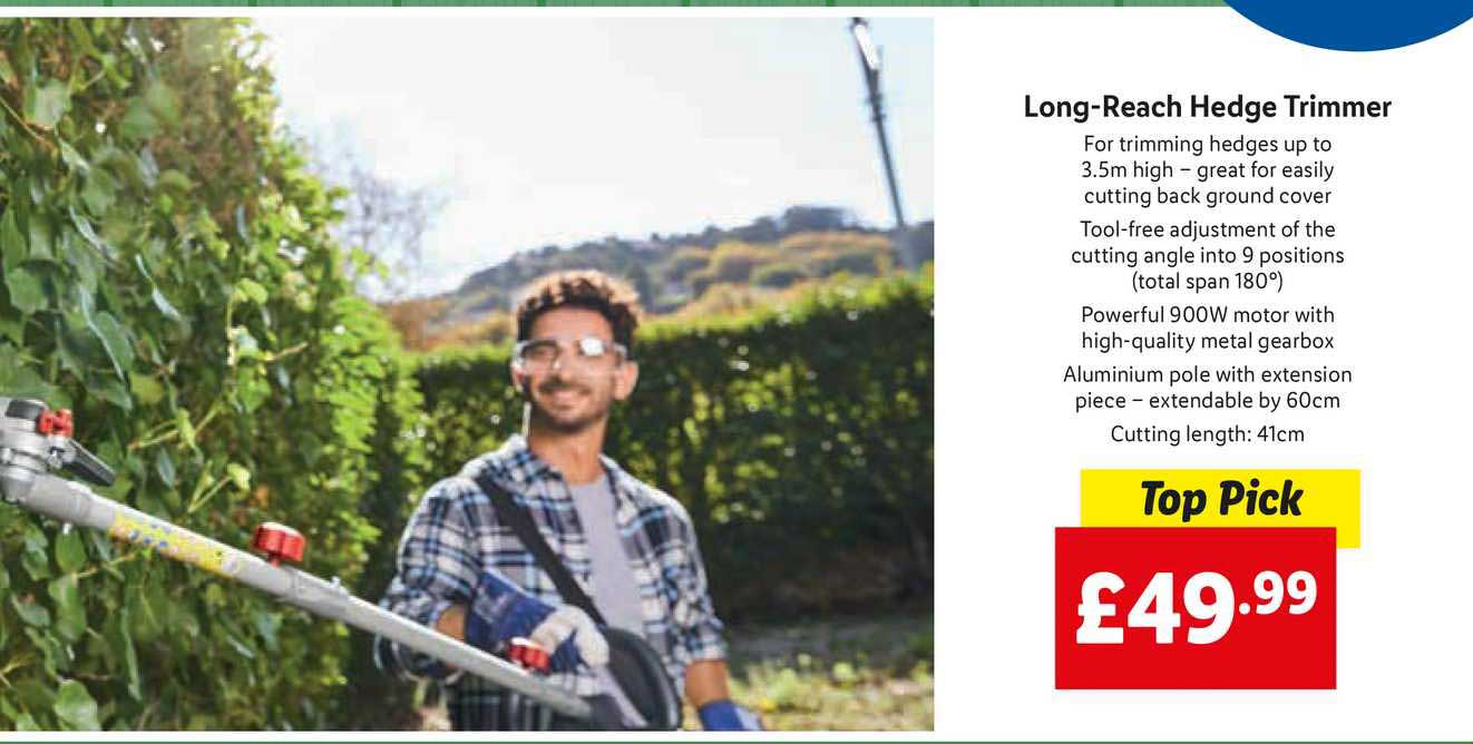 Lidl Long-Reach Hedge Trimmer