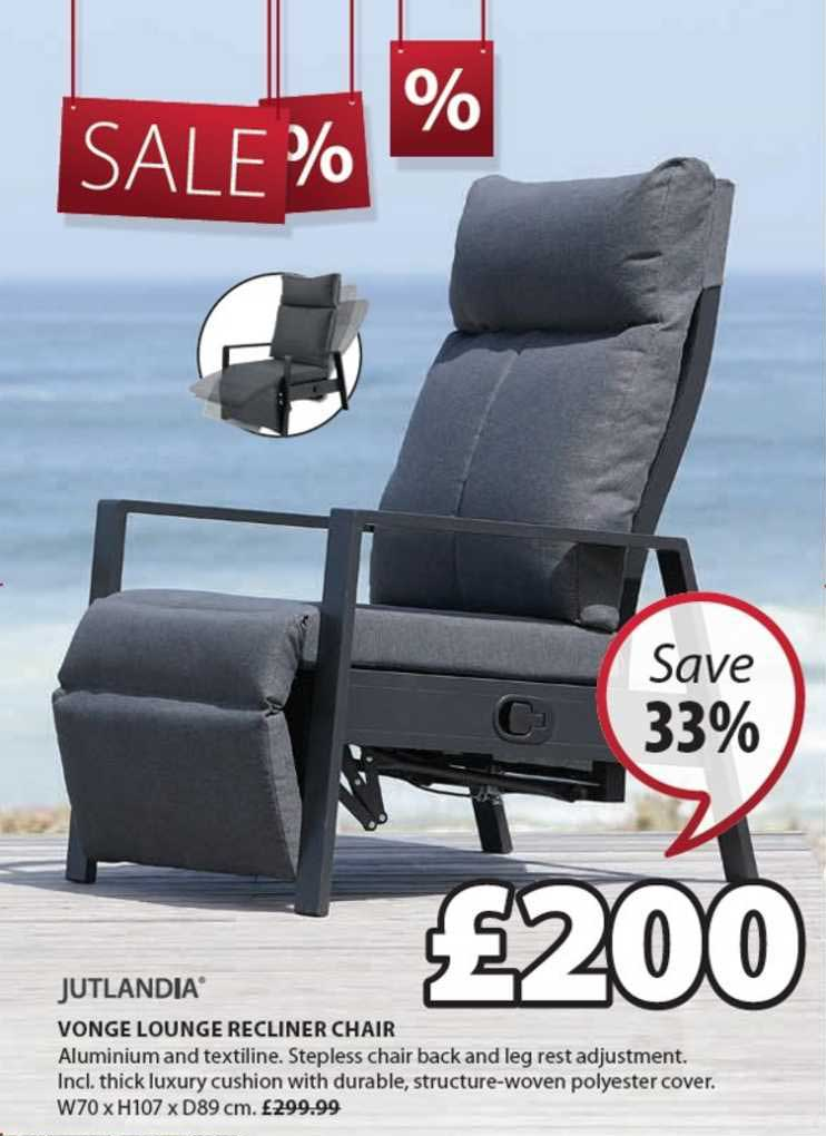 JYSK Jutlandia Vonge Lounge Recliner Chair