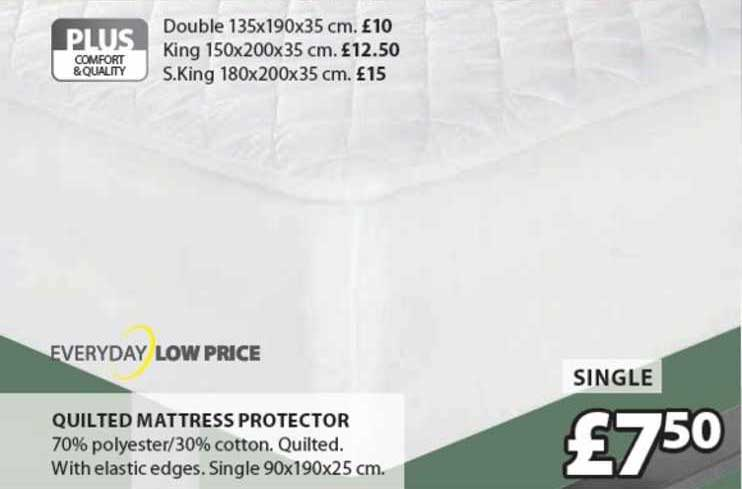 JYSK Quilted Mattress Protector