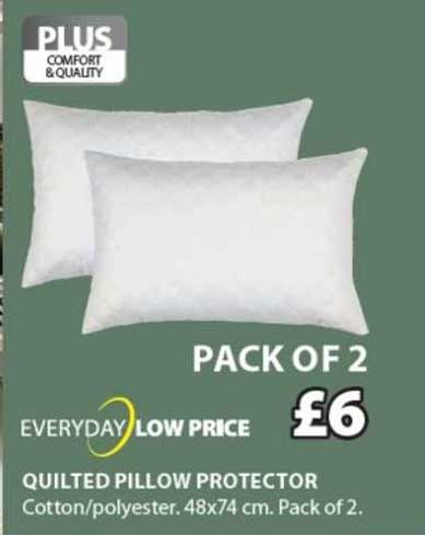 JYSK Quilted Pillow Protector