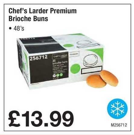 Booker Wholesale Chef's Larder Premium Brioche Buns
