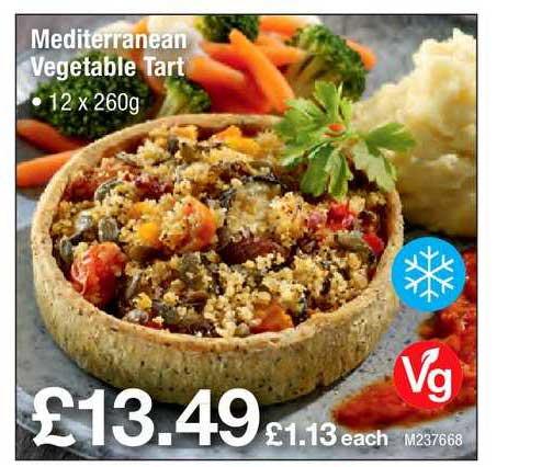 Booker Wholesale Mediterranean Vegetable Tart