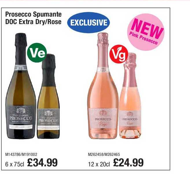 Booker Wholesale Prosecco Spumante DOC Extra Dry- Rose