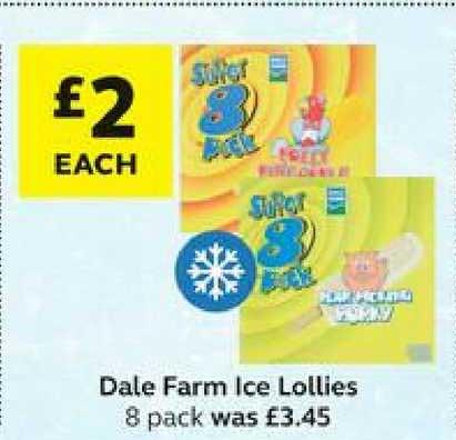 SuperValu Dale Farm Ice Lollies 8 Pack