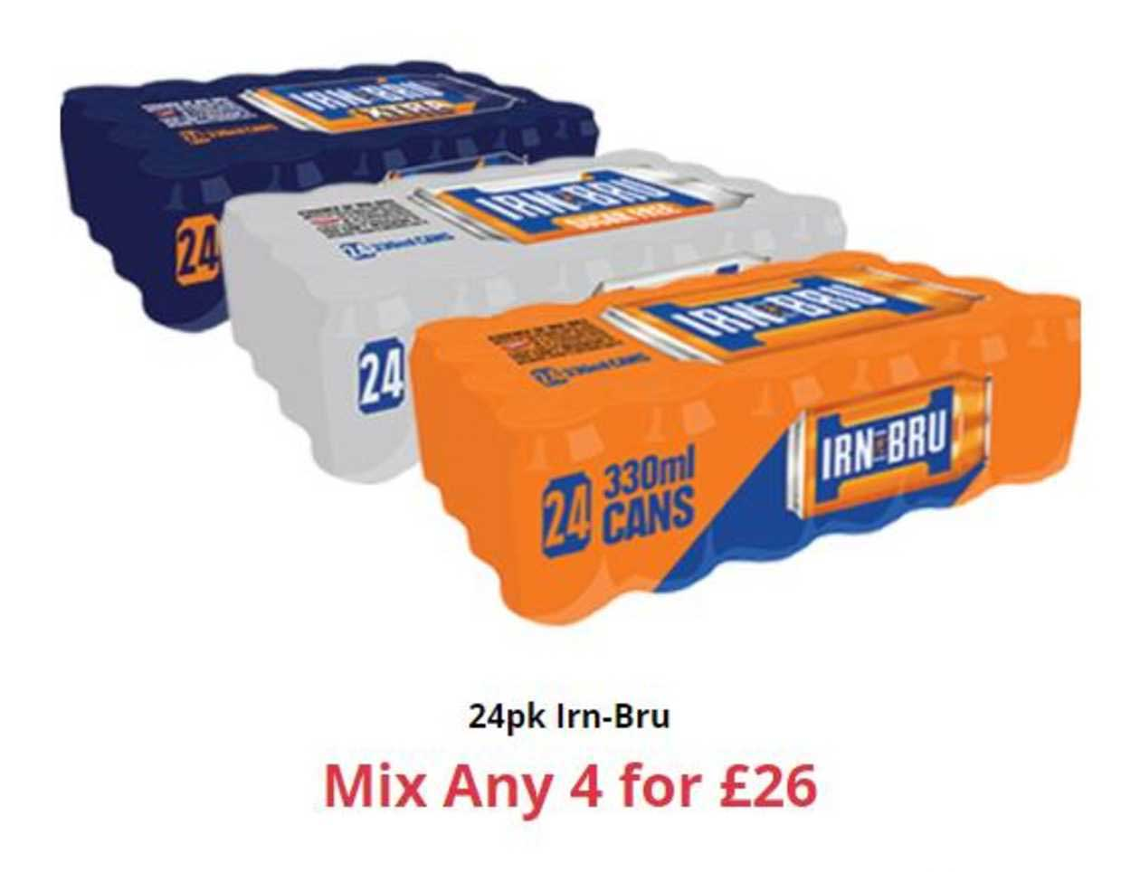 Farmfoods 24Pk Irn-Bru Mix Any 4