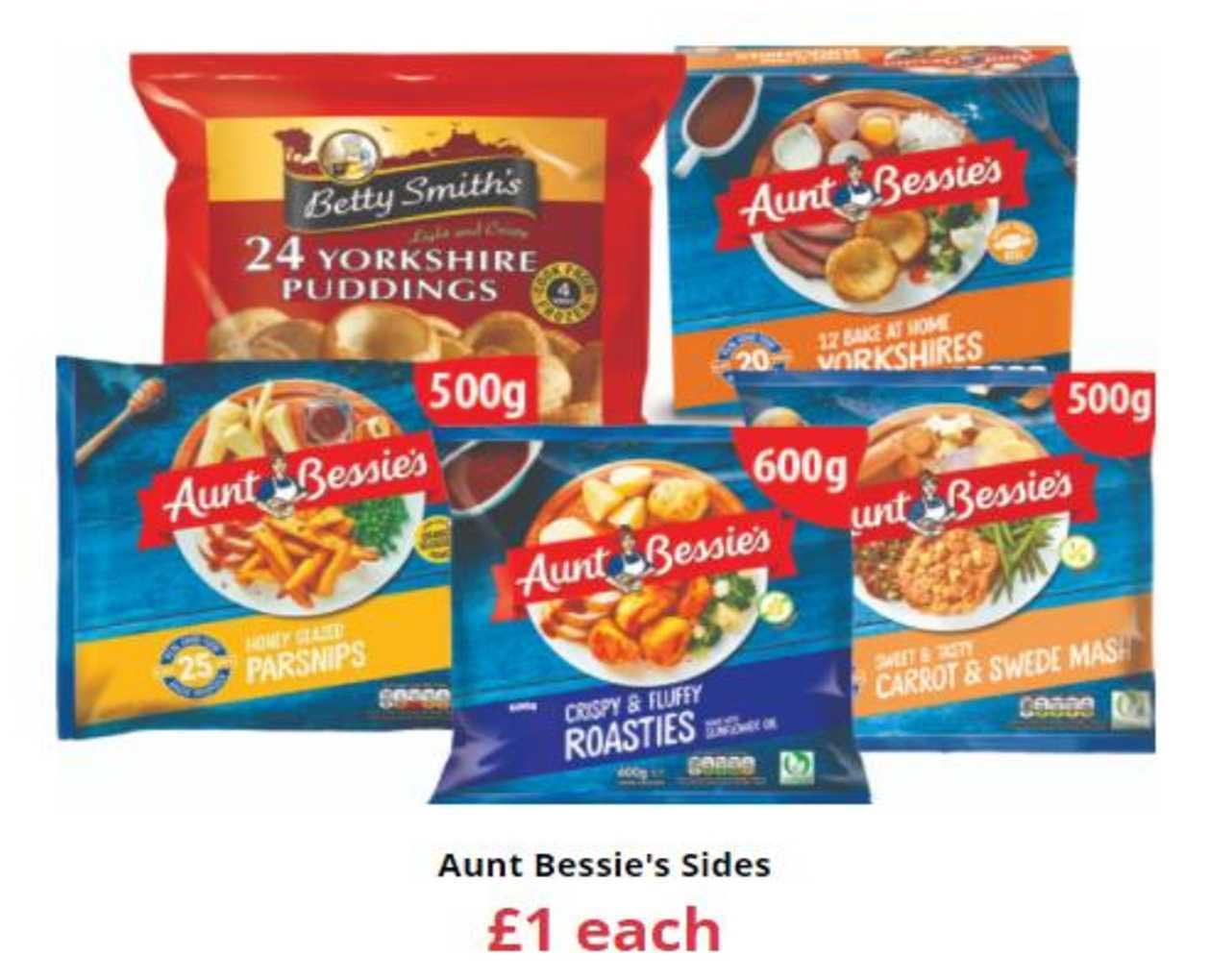 Farmfoods Aunt Bessie's Sides