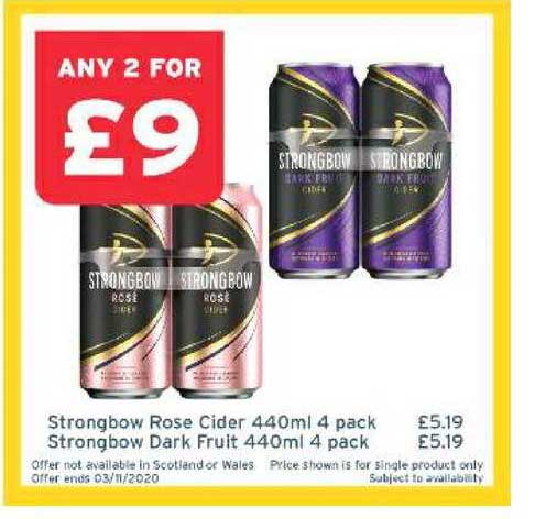 One Stop Strongbow Rose Cider 440ml 4 Pack