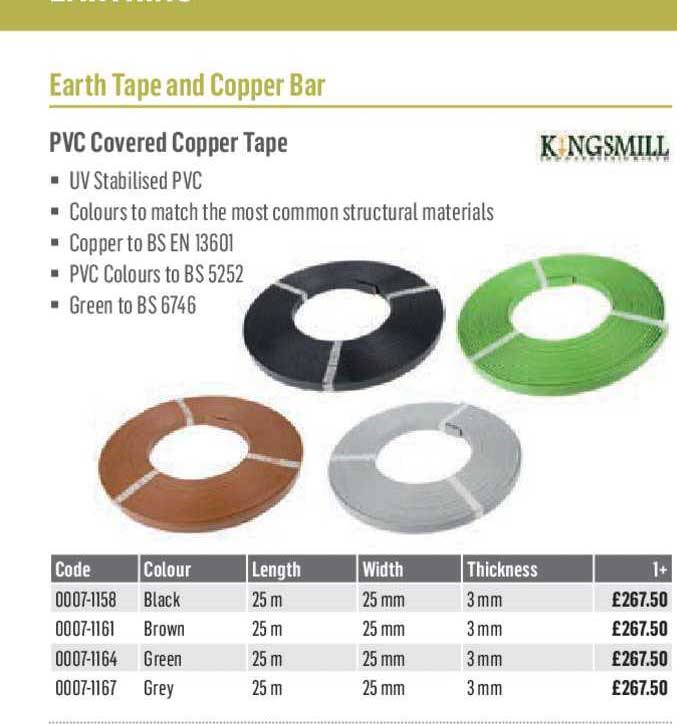 City Electrical Factors PVC Covered Copper Tape