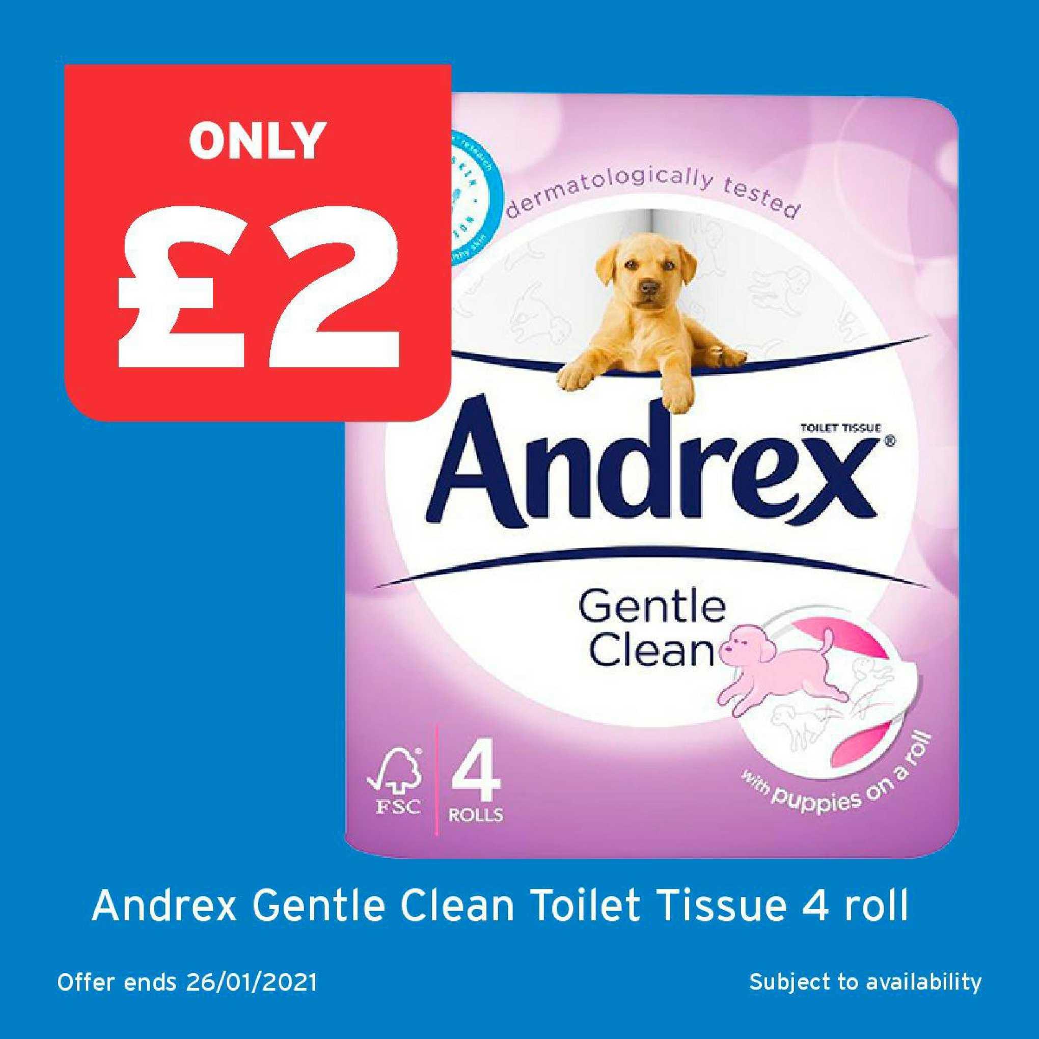 One Stop Andrex Gentle Clean Toilet Tissue