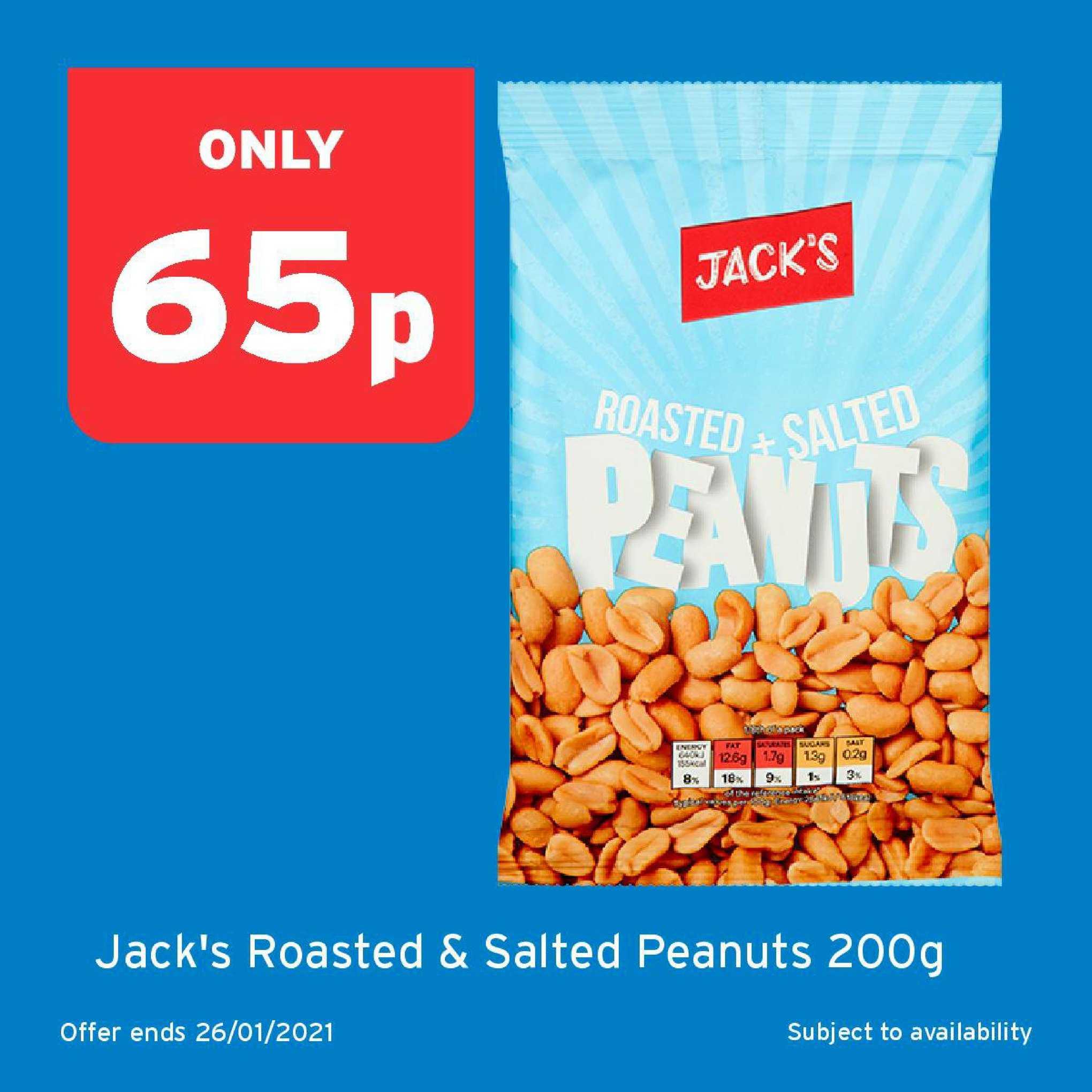 One Stop Jack's Roasted & Salted Peanuts