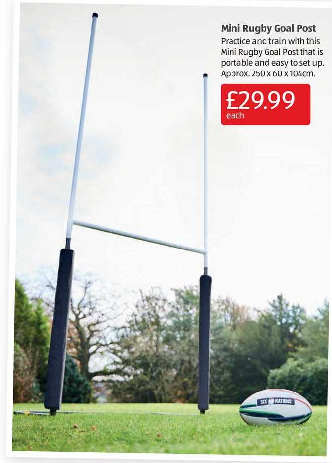Aldi Mini Rugby Goal Post