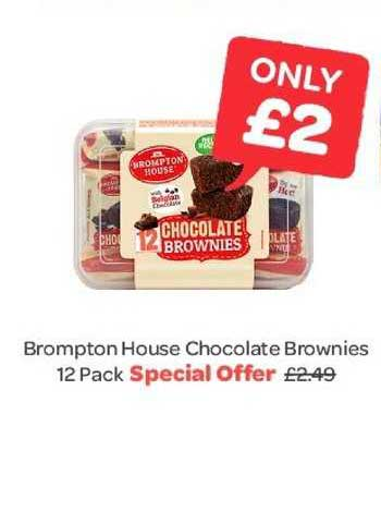 Spar Brompton House Chocolate Brownies 12 Pack