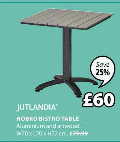 JYSK Hobro Bistro Table