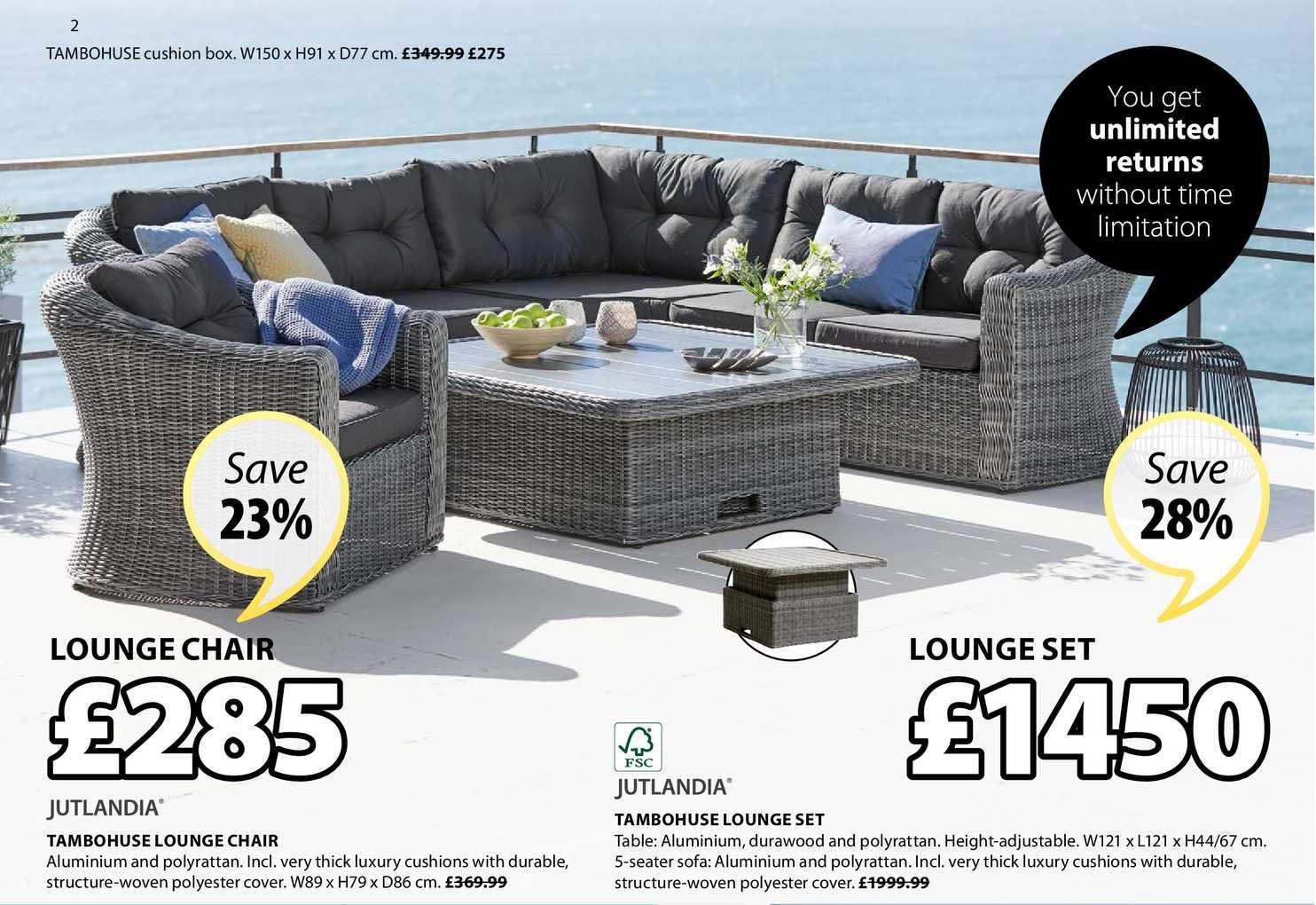 JYSK Tambohuse Lounge Chair , Tambohuse Lounge Set