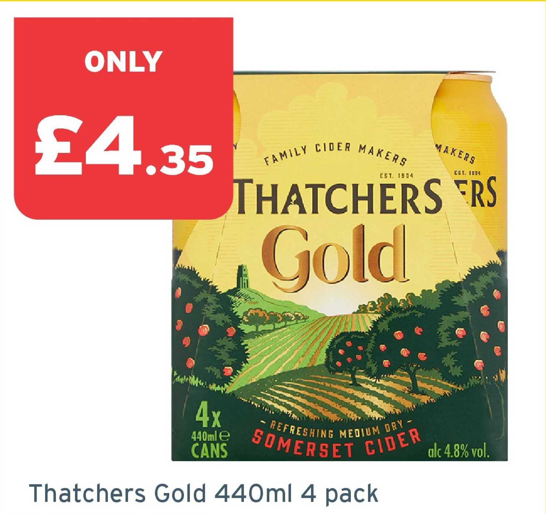 One Stop Thatchers Gold 440ml 4 Pack