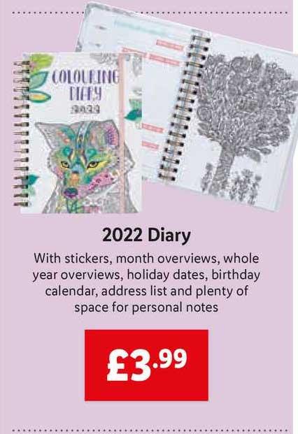 Lidl 2022 Diary
