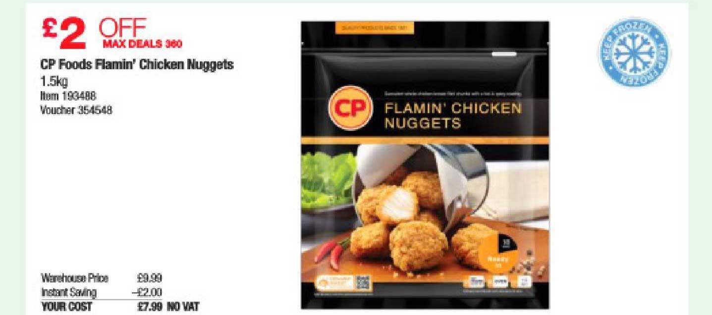 Costco CP Foods Flamin Chicken Nuggets