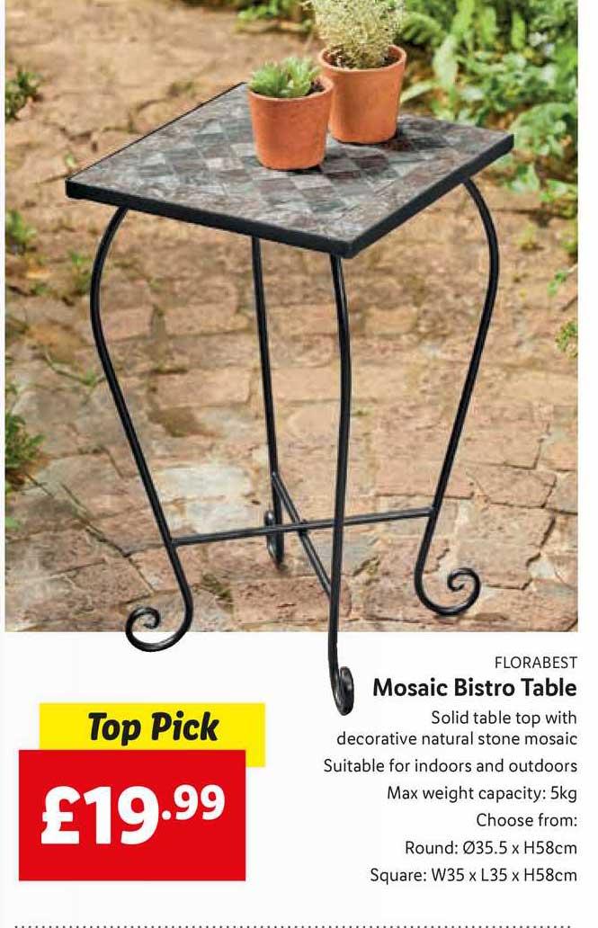 Lidl Mosaic Bistro Table