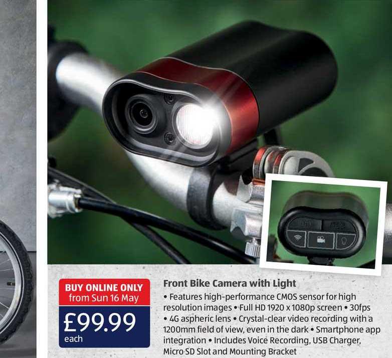 Aldi Front Bike Camera With Light